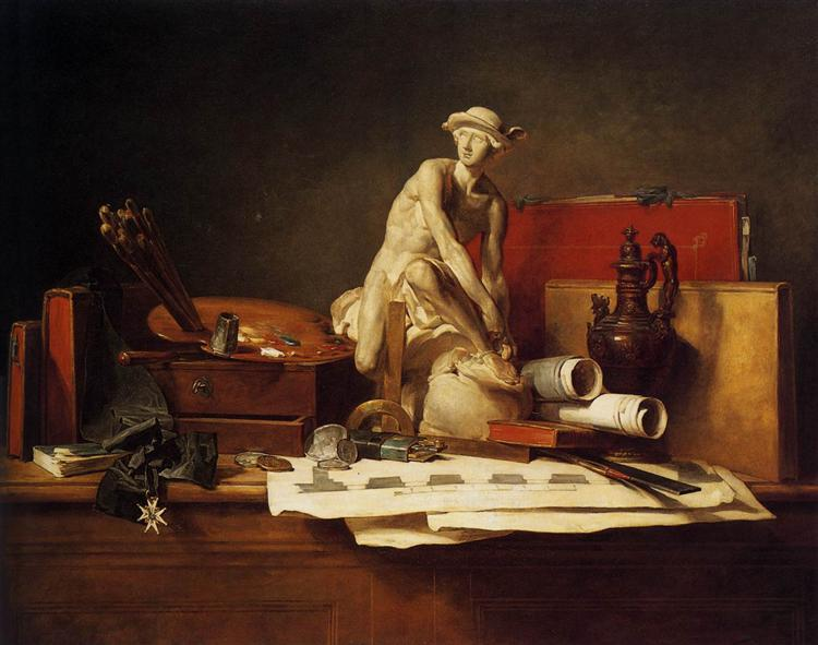 The Attributes of Art, 1766 - Jean-Baptiste-Simeon Chardin