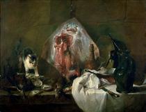 The Ray or, The Kitchen Interior - Jean-Baptiste-Simeon Chardin