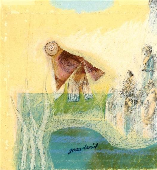 Figures and a bird - Jean David
