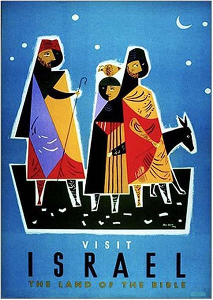 Visit Israel, 1950 - Jean David