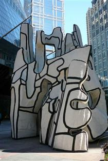 Monument with Standing Beast - Jean Dubuffet