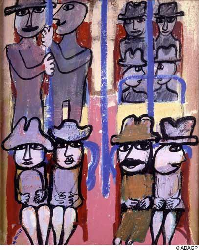 Subway, 1943 - Jean Dubuffet