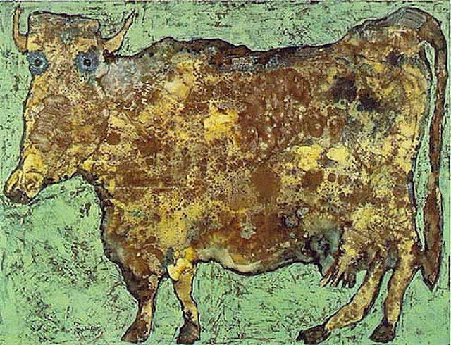 The Cow With The Subtle Nose, 1954 - Jean Dubuffet