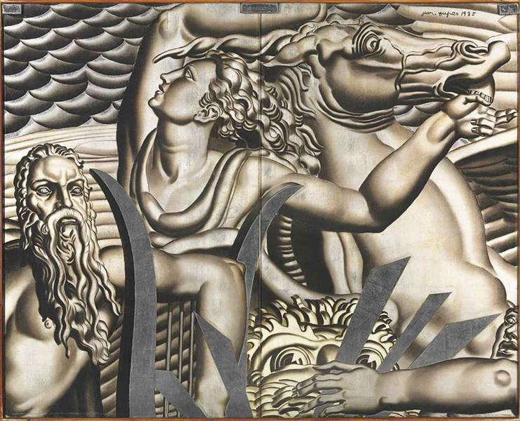 A Pair of Wall Panels, 1935 - Jean Dupas