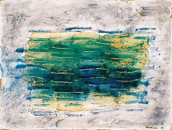 Green Seas, 1958 - Jean Fautrier