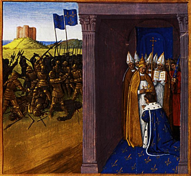 Coronation of Pepin the Short in Laon, 1455 - 1460 - Jean Fouquet