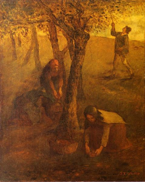 Gathering Apples - Jean-Francois Millet