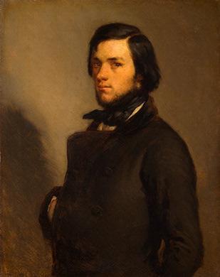 Portrait of a man, c.1845 - Jean-Francois Millet