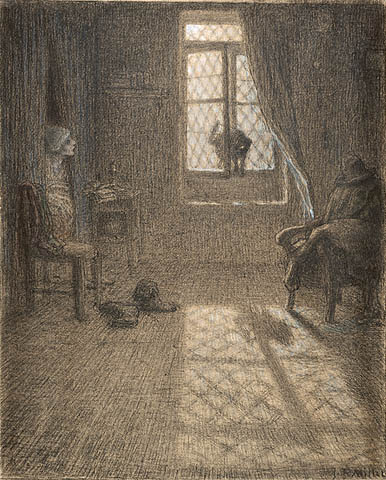 The Cat Who Became a Woman - Jean-Francois Millet