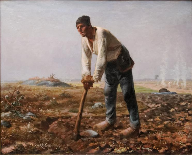 The Man with the Hoe - Millet Jean-Francois