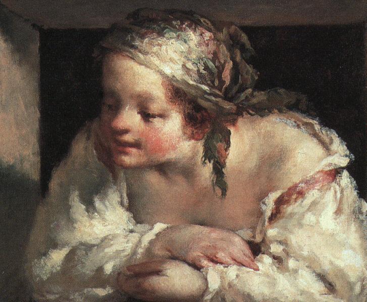 Young woman, 1844 - 1845 - Jean-Francois Millet