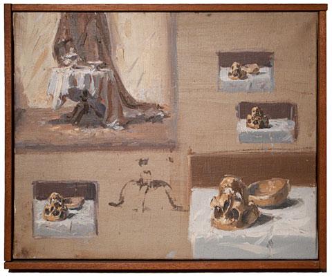 Untitled (Skull Series), 1957 - Jean Helion