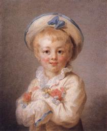 A Boy as Pierrot - Jean-Honore Fragonard