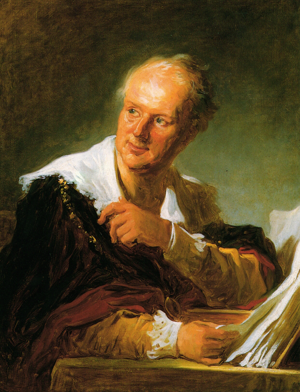 Portrait of denis diderot jean honore fragonard for Bernard peintre
