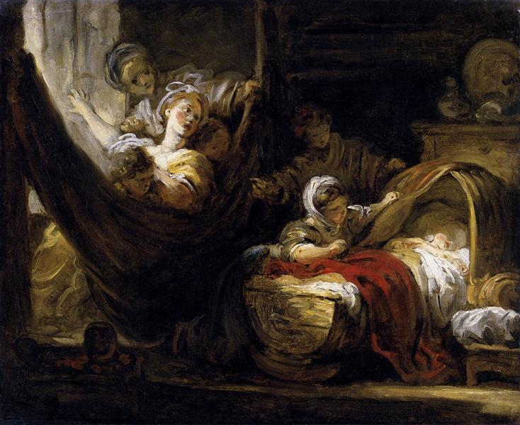 The Cradle, 1761 - 1765 - Jean-Honore Fragonard
