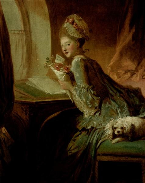 The Love Letter - Jean-Honore Fragonard