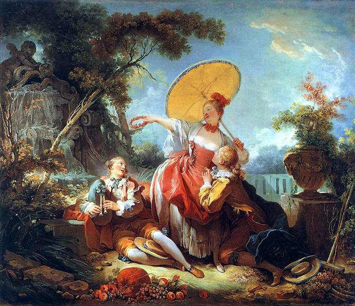 The Musical Contest - Jean-Honore Fragonard