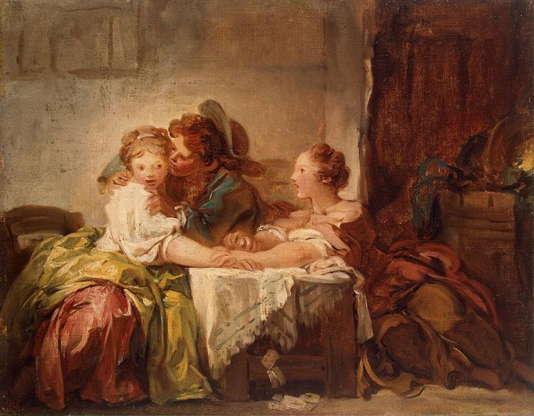 The Prize of a Kiss, 1760 - Jean-Honore Fragonard