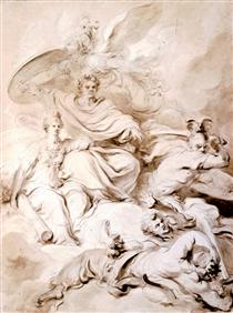 To the Genius of Franklin - Jean-Honore Fragonard