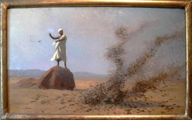 Arab Frightening Larks Away (unfinished), 1900 - Jean-Léon Gérôme