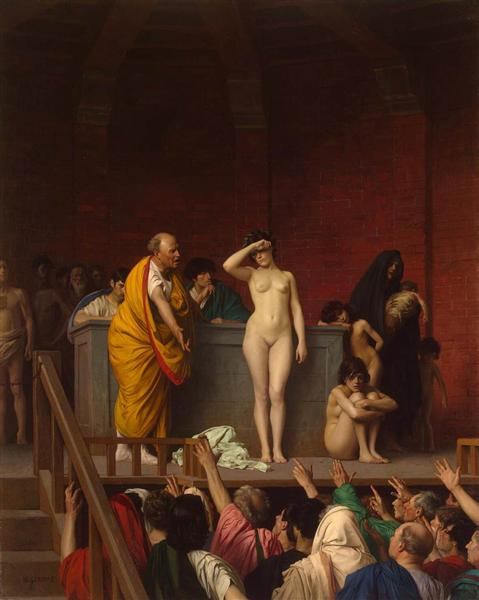 Vente d'esclaves à Rome, c.1884 - Jean-Léon Gérôme