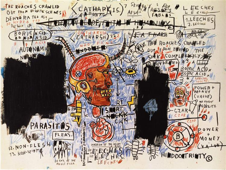 Leeches, 1983 - Jean-Michel Basquiat