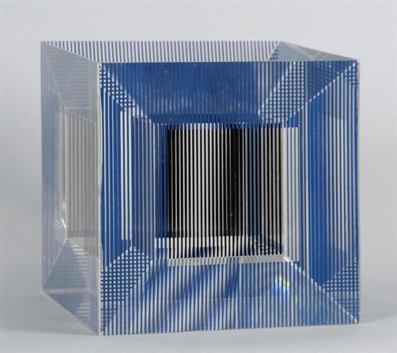 Cube with Ambigous Space, 1981 - Jesús Rafael Soto