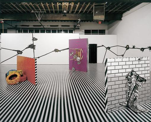 Mental Oyster (installation view), 2005 - Jim Lambie