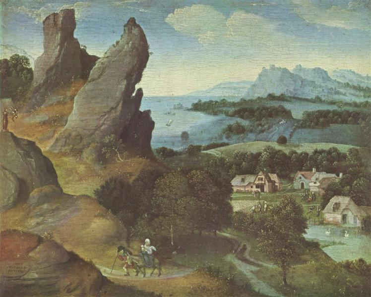Landscape with the Flight, 1515 - 1524 - Joachim Patinir