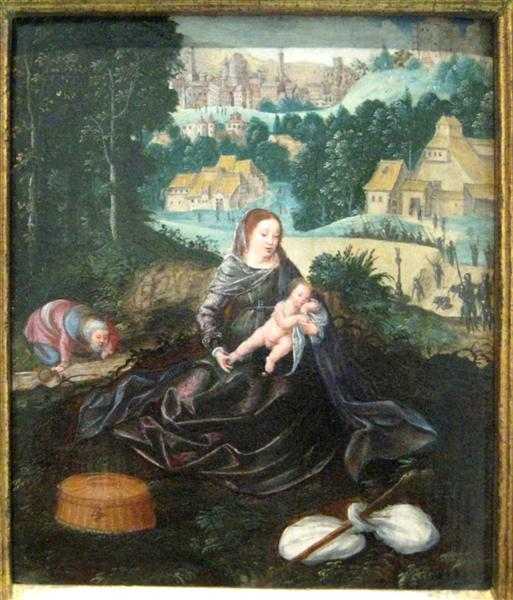 Rest of the Holy Family on the Flight into Egypt - Joachim Patinir