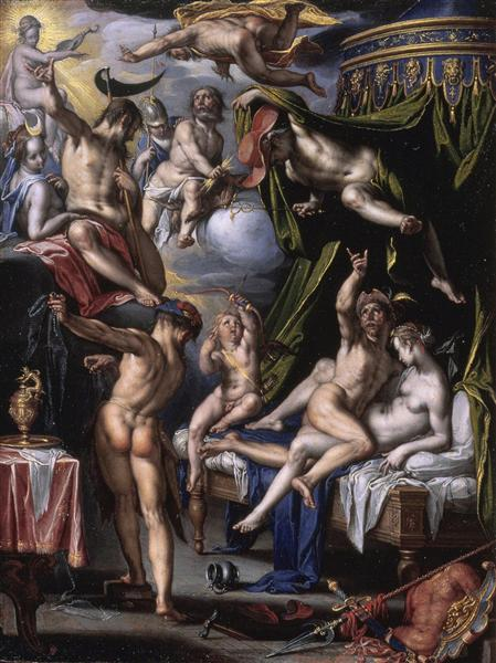 Mars and Venus Surprised by Vulcan, 1601 - Joachim Wtewael