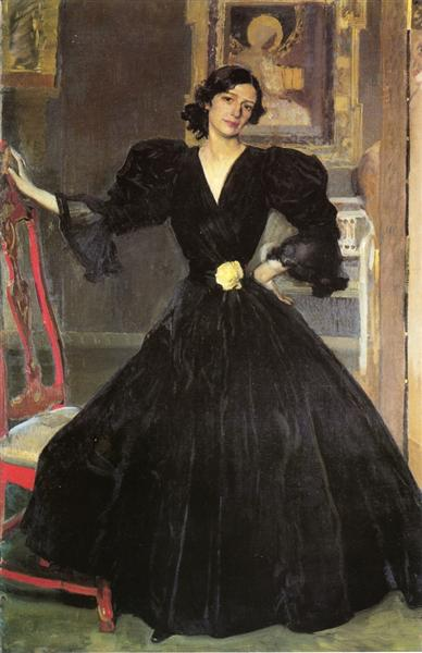 Clotilde in a Black Dress, 1906 - Joaquín Sorolla