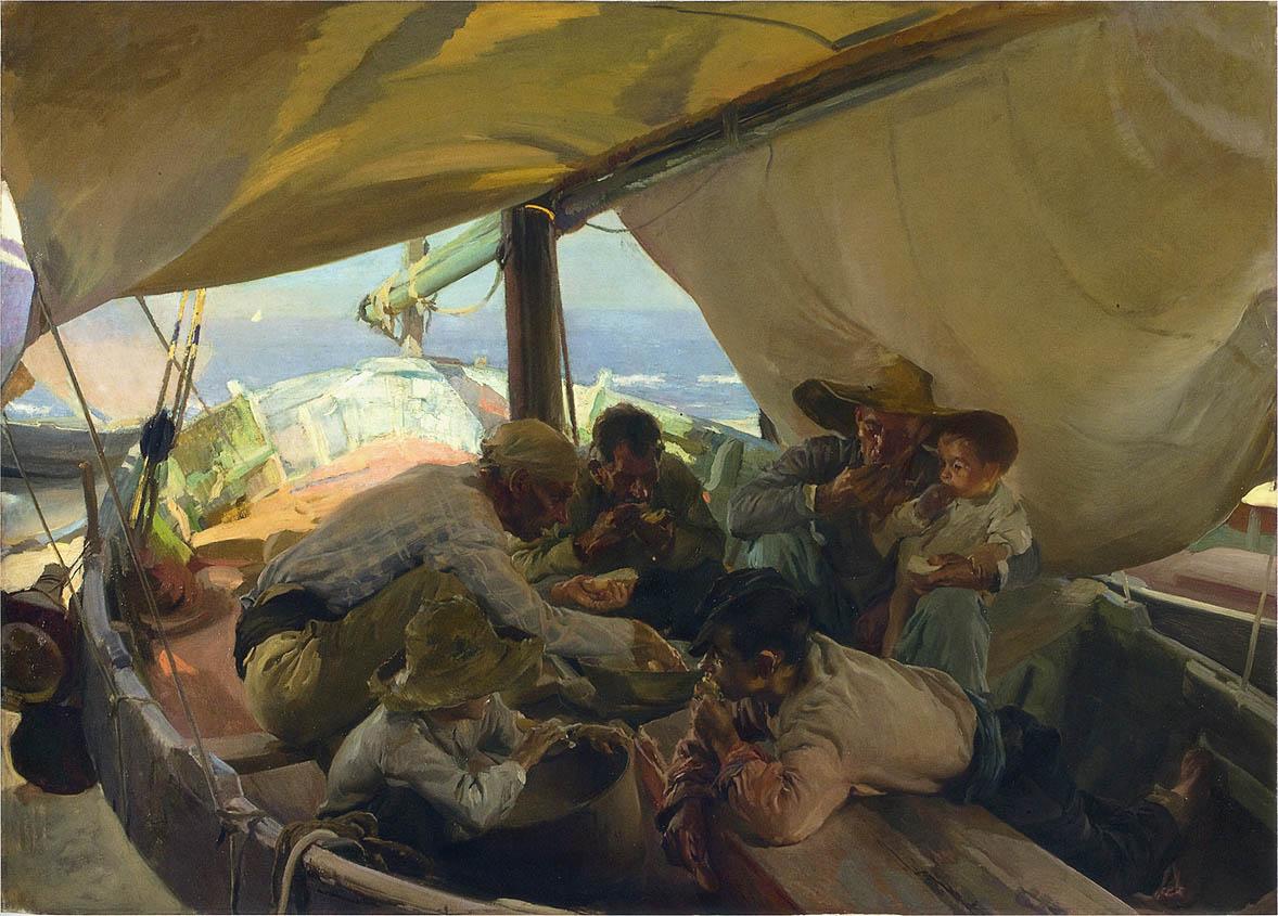 Lunch on the boat 1898 joaqu n sorolla - Galeria de arte sorolla ...