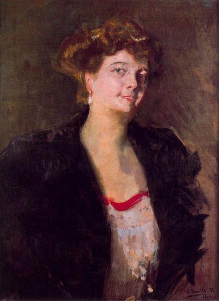 Portrait of Dona Elena Ortúzar - Хоакін Соролья