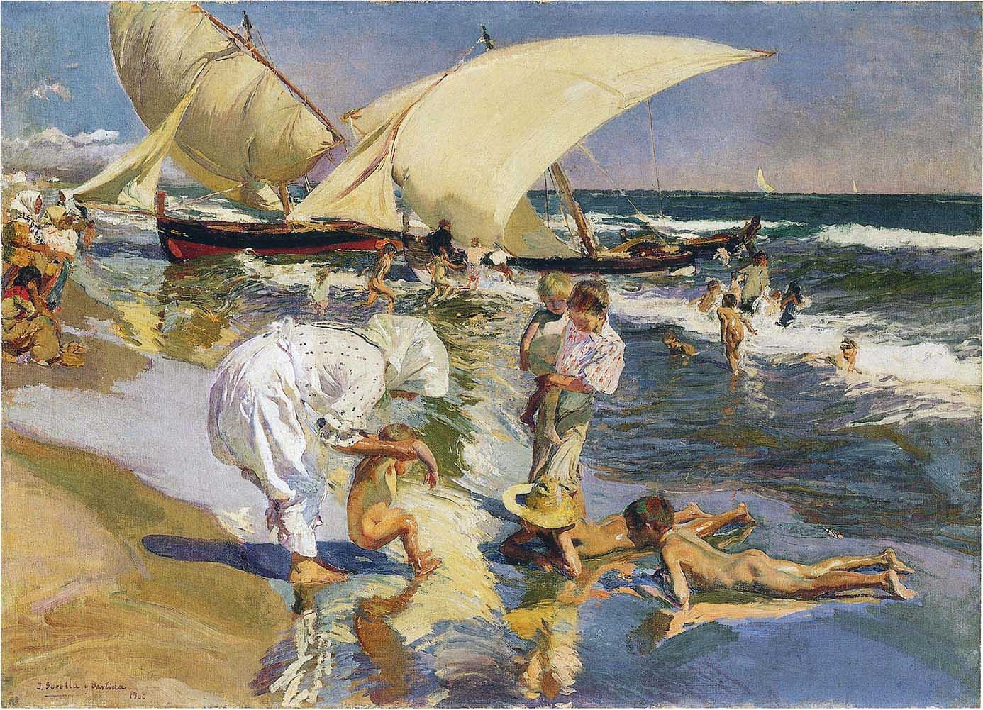 Valencia beach in the morning light 1908 joaqu n - Galeria de arte sorolla ...