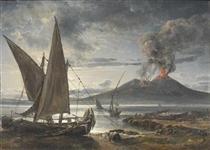 Boats on the Beach Near Naples - Johan Christian Clausen Dahl