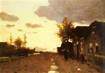 Along the Canal - Johan Hendrik Weissenbruch