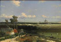 View of Haarlem - Johan Hendrik Weissenbruch