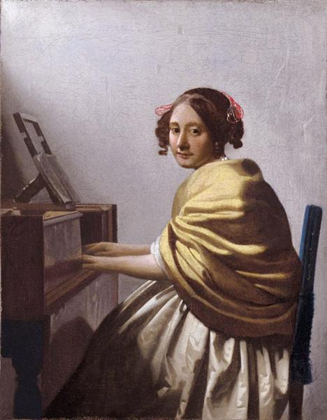 A young woman seated at the virginals (A young woman seated at the virginal), c.1670 - c.1672 - Johannes Vermeer