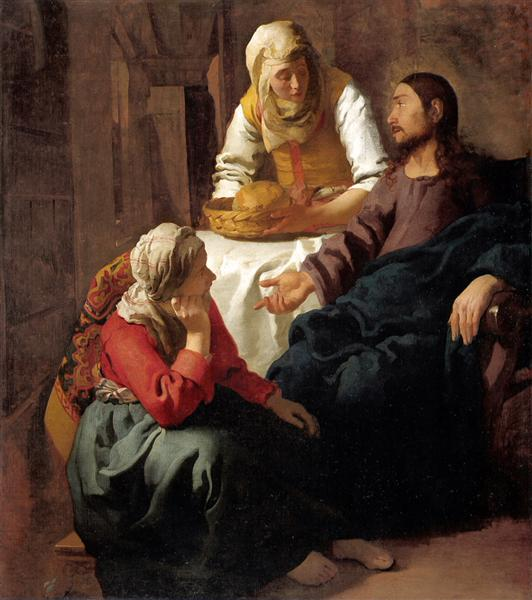 Christ in the House of Martha and Mary, 1654 - Johannes Vermeer