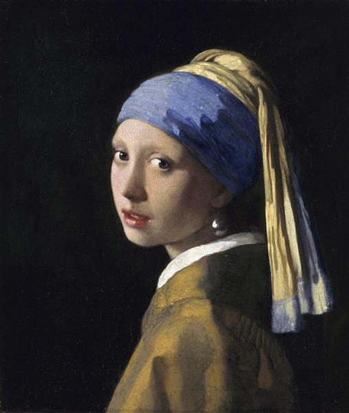 La Jeune Fille à la perle, c.1665 - Johannes Vermeer