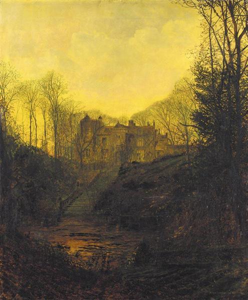 A Manor House in Autumn - John Atkinson Grimshaw