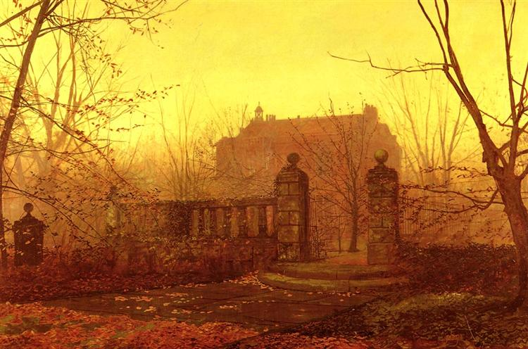 Autumn Morning - John Atkinson Grimshaw