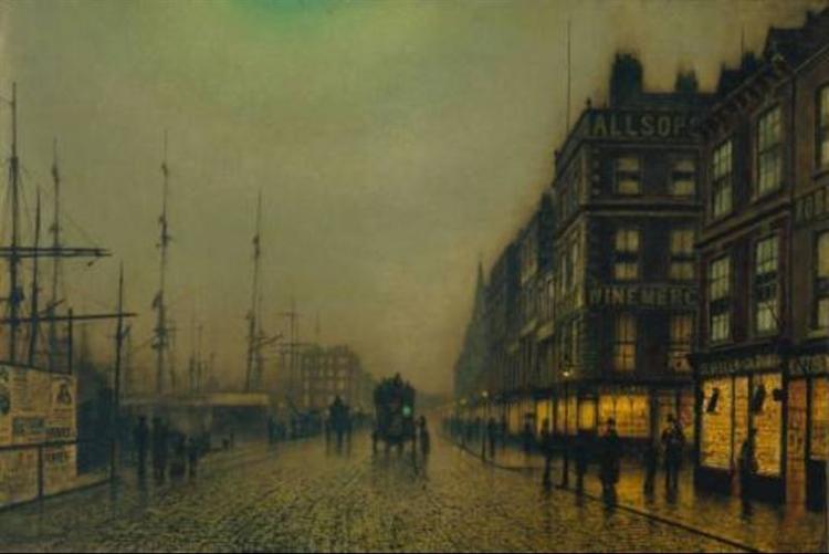 Liverpool Quay by Moonlight, 1887 - John Atkinson Grimshaw