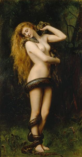 Lilith with a Snake, 1886 - John Collier