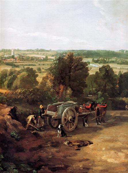 Stour valley and Dedham village - John Constable