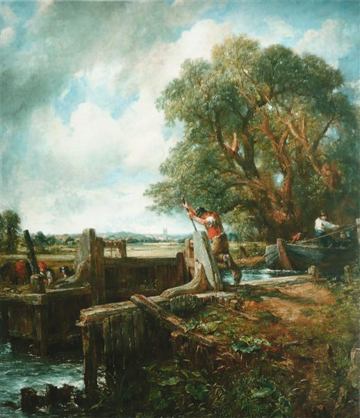 The Lock, 1824 - John Constable