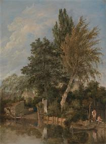 Boys Bathing on the River Wensum, Norwich - Джон Кром