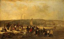 The Fish Market, Boulogne, France - Джон Кром