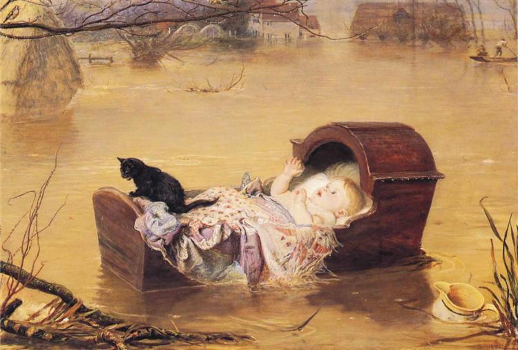 A flood, 1870 - John Everett Millais